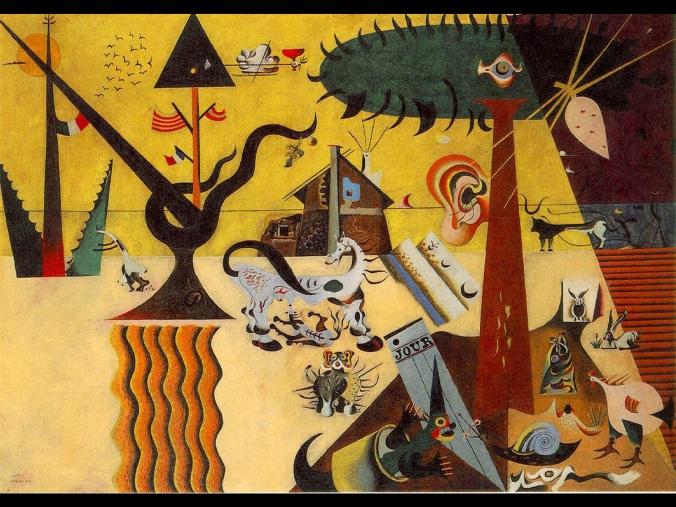 The Tilled Field by Joan Miró, 1923-1924