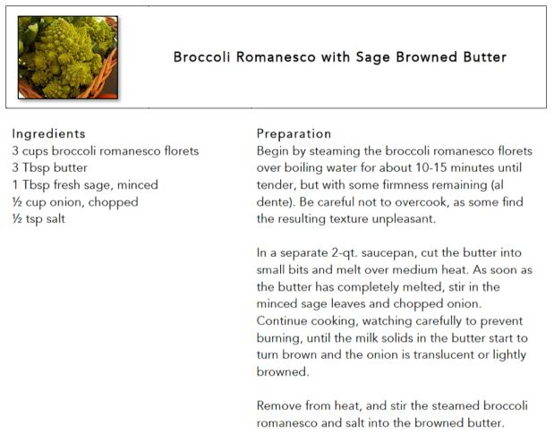 romanesco recipe